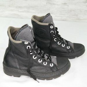 Converse All Star High Top Sneakers Black Leather